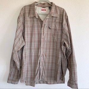 Wrangler Vented Fisherman Plaid Button Down Shirt